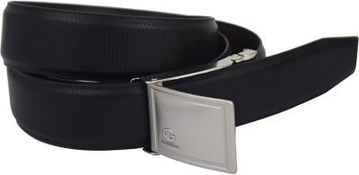 LEE O Men Formal Black Genuine Leather Reversible Belt