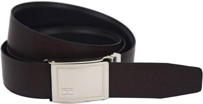 LEE O Men Formal Brown Genuine Leather Reversible Belt