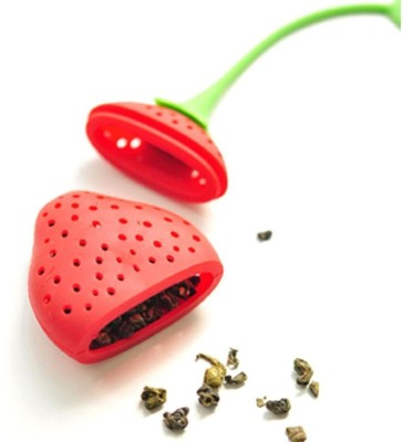 Perfect Pricee Silicone Strawberry Design Loose Tea Leaf Strainer Herbal Spice Infuser Filter Tool Collapsible Strainer(Red Pack of 1)  available at flipkart for Rs.149