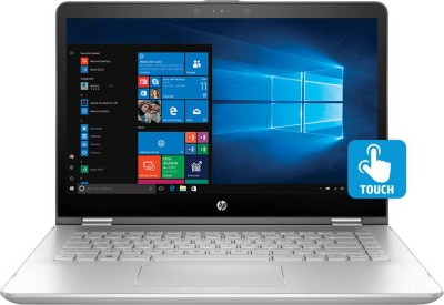 HP x360 Core i3 7th Gen - (4 GB/1 TB HDD/8 GB SSD/Windows 10 Home/2 GB Graphics) 14ba075TX 2 in 1 Laptop(14 inch, SIlver, 1.72 kg)
