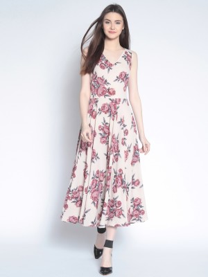 rare Women Maxi Beige Dress