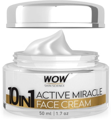 WOW Skin Science 10 in 1 Active Miracle Face Cream with SPF 15 PA