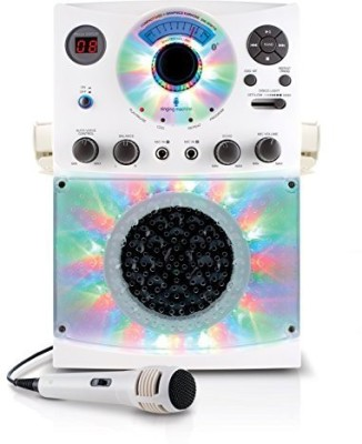 Singing Machine Sml385Btw Top Loading Cdg Karaoke System With Bluetooth, Sound And Disco Light Show (White)(Multicolor)  available at flipkart for Rs.8943