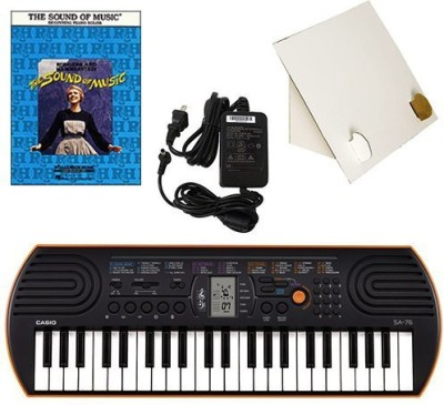 Generic Casio Sa-76 44 Key Mini Keyboard Deluxe Bundle Includes Bonus Casio Ac Adapter, Desktop Music Stand & The Sound Of Music Beginni(Multicolor)  available at flipkart for Rs.17339