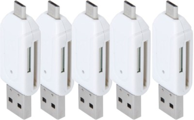 Yellow Bell USB, Micro USB OTG Adapter(Pack of 5)