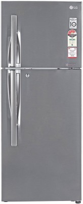 LG 260 L Frost Free Double Door 4 Star Refrigerator(Shiny Steel, GL-T292RPZN)  available at flipkart for Rs.28300