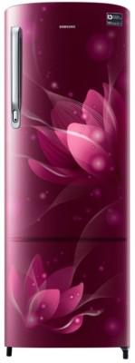 Samsung 255 L Direct Cool Single Door 3 Star (2019) Refrigerator(Blooming Saffron Red, RR26N373ZR8/HL)