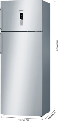 Bosch KDN56XI30I 507 L Double Door Refrigerator