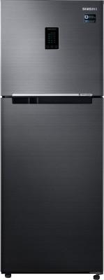 Samsung 324 L Frost Free Double Door 3 Star (2019) Convertible Refrigerator(Black Inox, RT34M5538BS/HL)