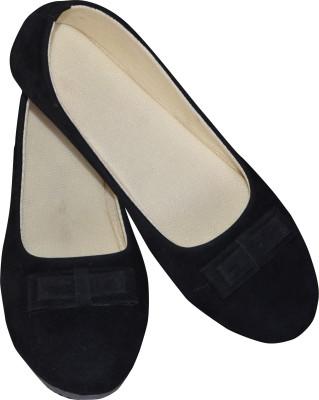 Skor Footwear A3 Black Bellies For Women(Black)