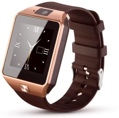 Wonder World ® DZ09 Electronics SIM/TF Card Mobile Phone Bluetooth Gold Smartwatch(Black Strap Free Size)