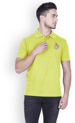Kolkata Knight Riders IPL Solid Men Polo Neck Light Green T-Shirt