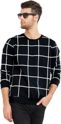 de9b8a80b14 Maniac Checkered Men's Round Neck Grey, Black T-Shirt