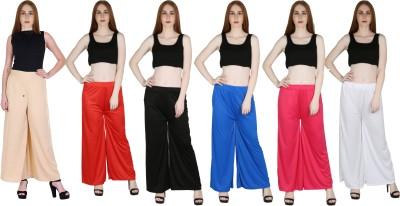 Marami Regular Fit Women Beige, Red, Black, Blue, Pink, White Trousers