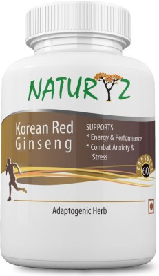 NATURYZ Naturyz Korean Red Ginseng -800mg - 30 Servings (60 capsules) for more energy and less stress(1000 mg)  available at flipkart for Rs.599