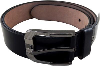 Blackdog Men Formal, Casual Black Genuine Leather Belt