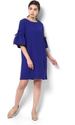 Van Heusen Women A-line Blue Dress