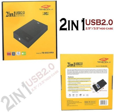 GIPTIP TB 2 in 1 Desktop and Laptop 3.5 2.5 Inch Sata Hard Disk Casing Enclosure(For laptop, Desktop, Black)