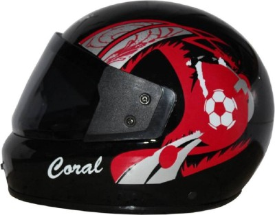Rider Coral Motorbike Helmet(Black)  available at flipkart for Rs.499