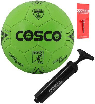 Cosco Rio ( Kids ) Football With Football Hand Pump Football Kit  available at flipkart for Rs.435