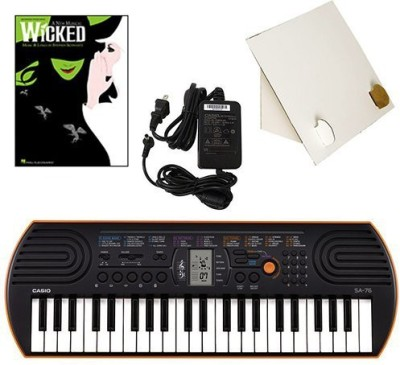 Generic Casio Sa-76 44 Key Mini Keyboard Deluxe Bundle Includes Bonus Casio Ac Adapter, Desktop Music Stand & Wicked Beginning Piano Sol(Multicolor)  available at flipkart for Rs.17339