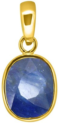 Tejvij and Sons 7.25 Ratti natural blue sapphire neelam pendent ashthadhatu with gold plated for men & women… Yellow Gold Sapphire Metal Pendant