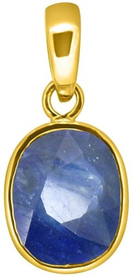 Tejvij and Sons 4.25 Ratti natural blue sapphire neelam pendent ashthadhatu with gold plated for men & women… Yellow Gold Sapphire Metal Pendant