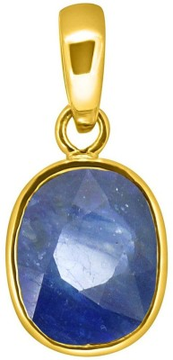 Tejvij and Sons 3.25 Ratti blue sapphire nilam pendent ashthadhatu with gold plated for men & women… Gold-plated Sapphire Metal Pendant