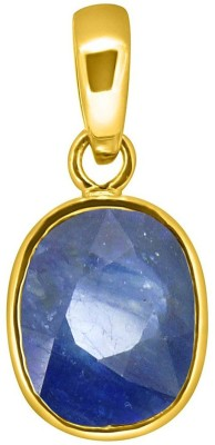 Tejvij and Sons 6.25 Ratti natural blue sapphire neelam pendent ashthadhatu with gold plated for men & women… Gold-plated Sapphire Metal Pendant