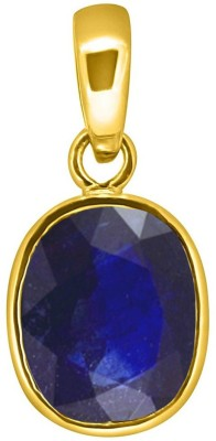 Tejvij and Sons 4.25 Ratti natural neelam pendent ashthadhatu with gold plated for men & women… Yellow Gold Sapphire Metal Pendant