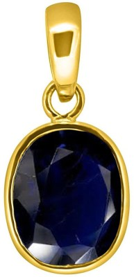 Tejvij and Sons 6.25 Ratti Blue Sapphire pendent for Capricorn ashthadhatu with gold plated for men & women… Gold-plated Sapphire Metal Pendant