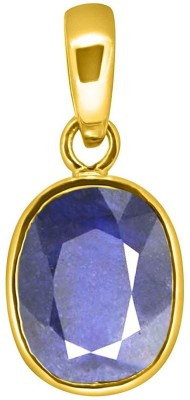 Tejvij And Sons 7.25 Ratti blue sapphire nilam pendent panchdhatu with gold plated for men & women… Yellow Gold Sapphire Metal Pendant