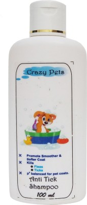 Crazy Pets Anti-fungal Floral Dog Shampoo(100 ml)  available at flipkart for Rs.110