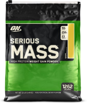 Optimum Nutrition Serious Mass Weight Gainers(5.44 kg, Banana)