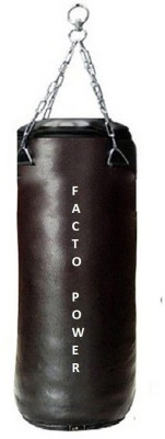 FACTO POWER 6.0 Feet Long, SRF - STANDARD Material, Black Color, Unfilled with Hanging Chain Hanging Bag(6.0, 72 kg)
