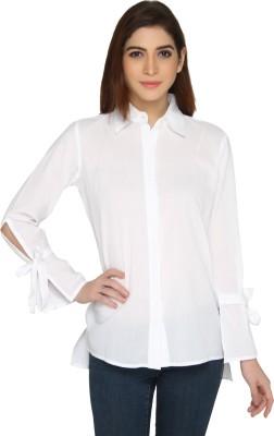 Ten on Ten Women Solid Casual Wingtip Shirt