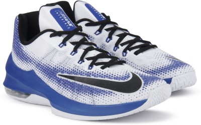 Nike AIR MAX INFURIATE LOW Basketball Shoes For Men(Blue, White) 1