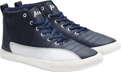 149c86a6398 28% OFF on Aero Synthetic Leather Sneakers For Men(Navy