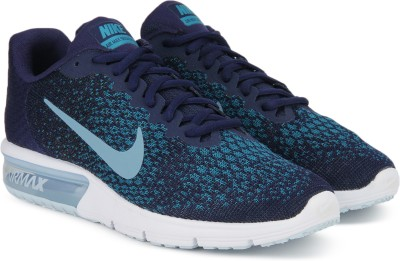 Nike AIR MAX SEQUENT 2 Running Shoes For Men(Blue, Navy) 1