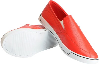 FAUSTO Stylish Loafers For Men Red FAUSTO Casual Shoes
