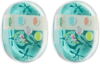 AruraEnterprise set of 2 Plain Design Soap Holder Case Box Organizer(Multicolor)