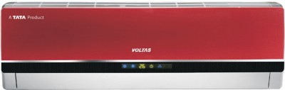 Voltas 1 Ton 3 Star BEE Rating 2018 Split AC  - Red(123PZY-R, Copper Condenser)