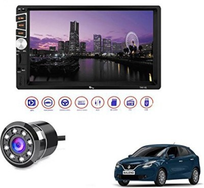 myTVS 1 Double Din HD Touch Screen Car Stereo Media Player with Bluetooth/USB/MP5/MP3 & Mirror Link+Reverse Parking Camera Combo