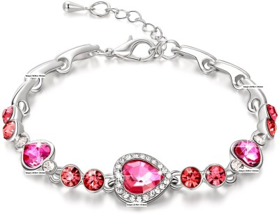 Up to 80% Off Pink Stoned Bracelets Fashion Jewellery