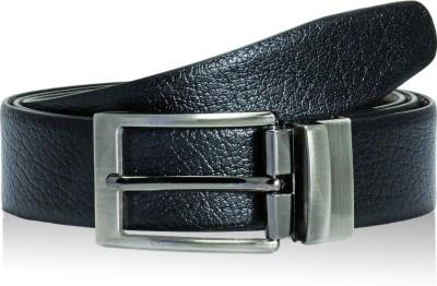 POLLSTAR Men Formal, Casual, Party Black Genuine Leather Reversible Belt
