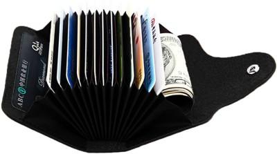 Stealodeal Exclusive Black High Quality Leatherite Wallet Atm 15 Card Holder(Set of 1, Black)