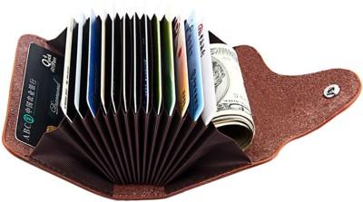 Flipkart SmartBuy High Quality | Pack of 2 | Stylish Silver metal Executive and Black Leatherite Finish Credit/debit/ATM/ID/Visiting SUPER SLEEK, STURDY 10 Card Holder(Set of 2, Silver, Black)