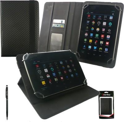 Emartbuy Wallet Case Cover for Dell Venue 8 Pro(Black Plain)