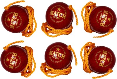 Tima 1063x6 Cricket Training Ball Pack of 6, Red Tima Cricket Training Ball