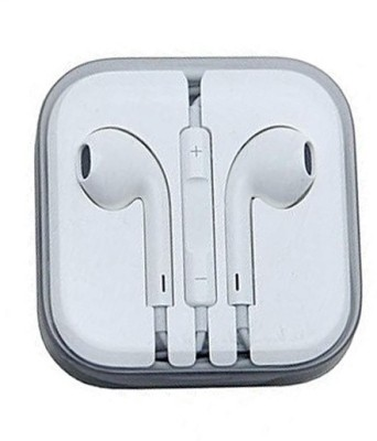 BUY SURETY 100% Original & Genuine iphone Earphones/Handree EarPods with 3.5mm Headphone Plug (MNHF2ZM/A) for iphone 5,5s,5c,6,6s,6plus,6splus,7,7plus,ipad & Ipod & SAMSUNG/VIVO/REDMI Wired Headset with Mic(White, In the Ear)